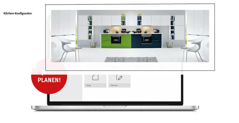 Mit unserem Küchenkonfigurator von unserem Partner SCHÜLLER.de designen Sie sich Ihre Traumküche auf einfachste Art und Weise.