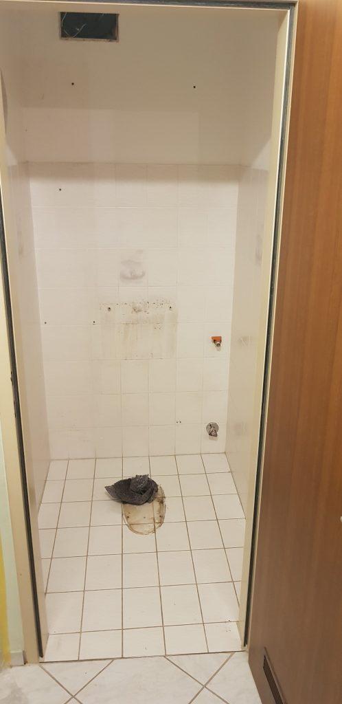 WC Renovierung, WC nach der Demontage
