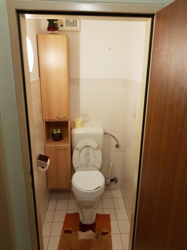 WC Renovierung, WC vor der Renovierung