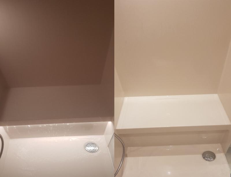intelligente Dusche mit Sitzbank