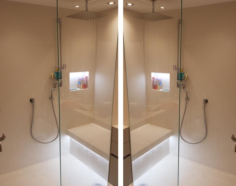 professionelle Teilfrenovierung - altes Bad raus - modernerne, intelligente Dusche rein