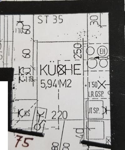 Kleine Küche Entwurfsplan